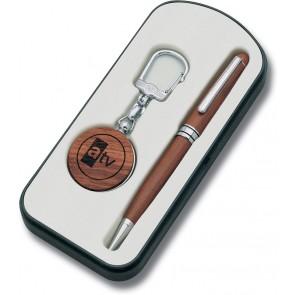 Privjesak wooden series + olovka 2794.KK (logo 30x30 mm)