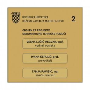 Natpisna pločica za ured 3SL (3 mjesta, 150x150 mm, staro zlato/crna)