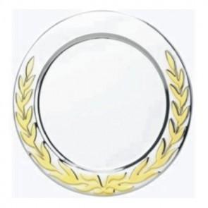 Tanjur BIEMANS TAN.BI.D313.ZG.GG, R=150mm, srebrni, zlatni vijenac
