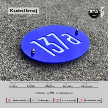 Kućni broj (225x170, plavo-bijela)