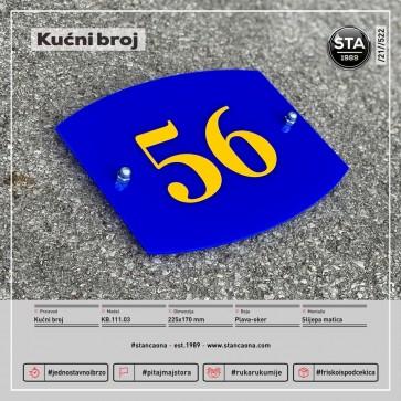 Kućni broj (225x170, plavo-oker)