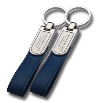 Privjesak kožni 105 blue (logo 30x13 mm)