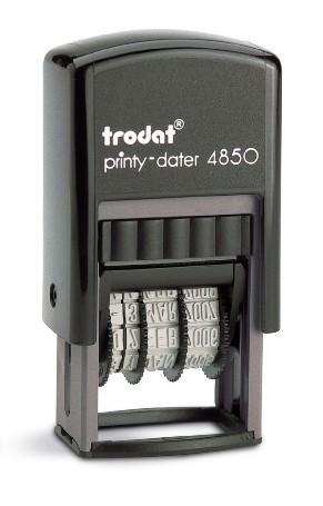 Štambilj gumeni + Datumar Trodat Printy 4850 (25x5 mm)