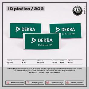 ID pločica 202 bijela (dimenzija 70x30 mm, pričvršćenje magnetom)