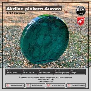 Akrilna nagrada Aurora mramor zelena R152x25mm