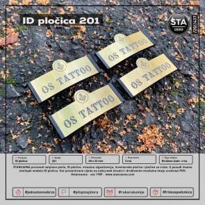 ID pločica 201 crna (dimenzija 68x22 mm, pričvršćenje magnetom)