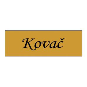 Natpisna pločica za vrata (120x40x1.6 mm, 5 boja)
