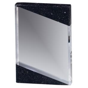 Staklena nagrada s crnim granitom 152x100x28mm