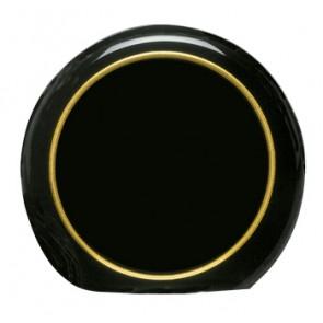 Akrilna nagrada Moon crna sa zlatnim prstenom R178x32mm