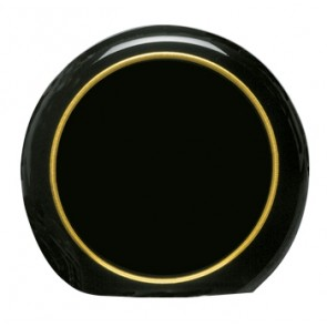 Akrilna nagrada Moon crna sa zlatnim prstenom  R127x25mm