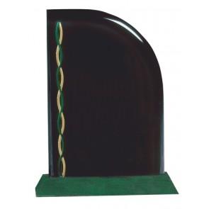 Akrilna nagrada Sail zeleno postolje 229x178 mm