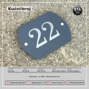Kućni broj (225x170, mineral siva-srebrna)