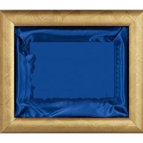 Plaketa Verona 1010B, zlatni okvir, 410x350mm, s plavom postavom, kutija