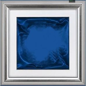 Plaketa Verona 1988B, srebrni okvir, 480x480mm, s plavom postavom, kutija