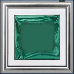 Plaketa Verona 1988G, srebrni okvir, 480x480mm, sa zelenom postavom, kutija