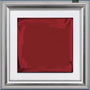 Plaketa Verona 1988R, srebrni okvir, 480x480mm, s crvenom postavom, kutija