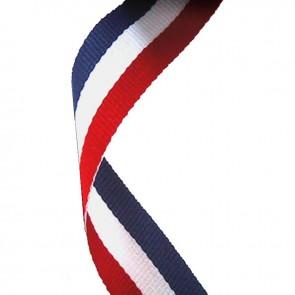 Trakica za medalju crven-bijeli-plavi (800 dužine, 22 mm širine)